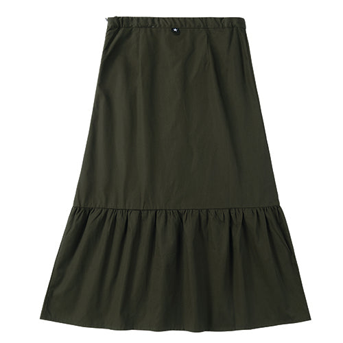Teens Faux Button Skirt in Hunter Green
