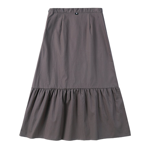 Teens Faux Button Skirt in Grey
