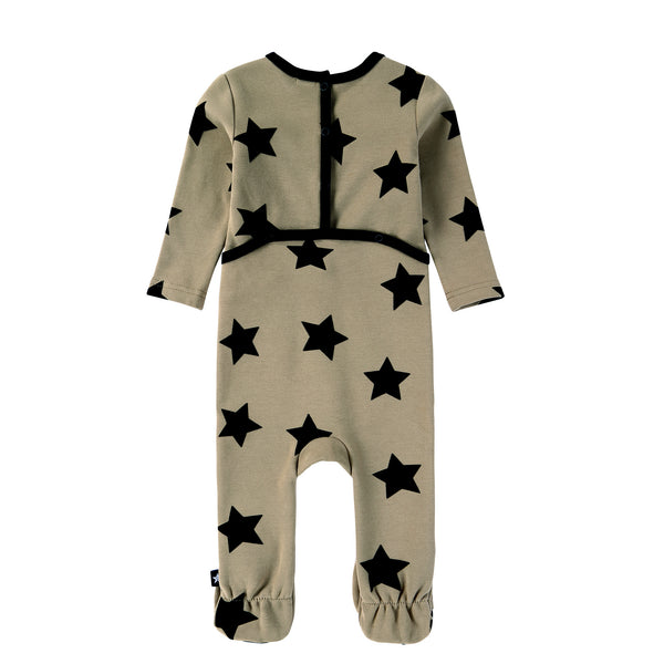 Baby Black Velvet Star Footie