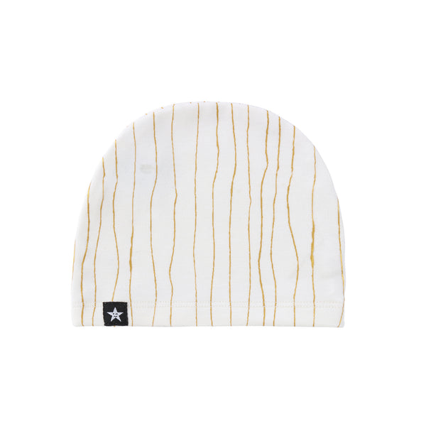 Baby Ivory and Gold Stripe Hat