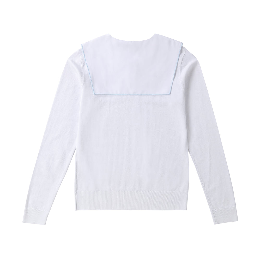 Teens Ivory Collar Sweater