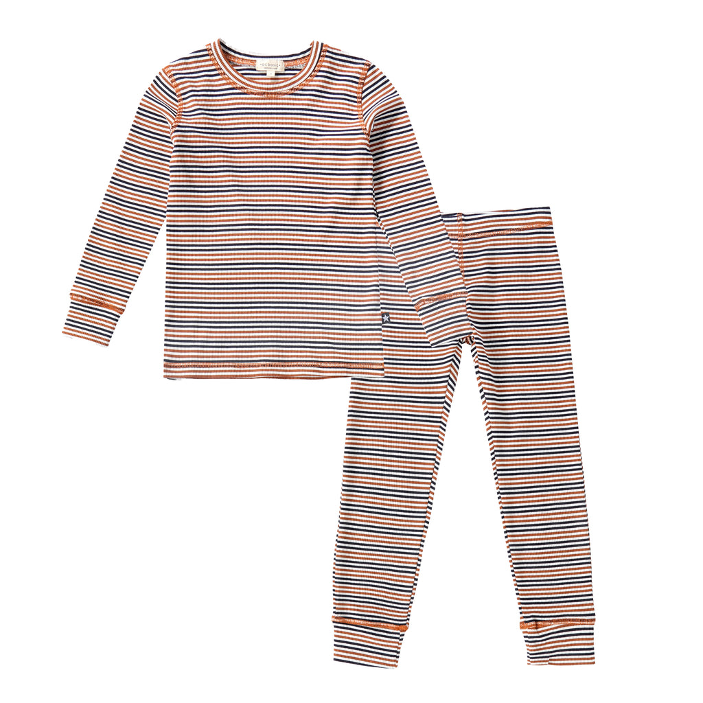 Sunset Ribbed Striped Pajamas