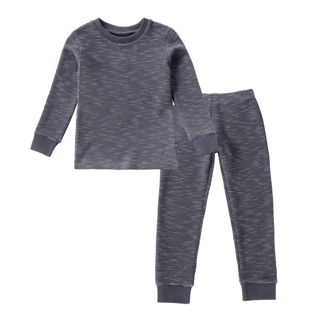 Textured Chenille Pajamas in Slate Blue