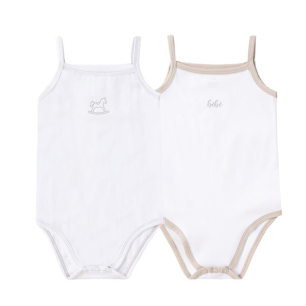 NEW: Baby 2pack Onesie (Horse and bebe print)