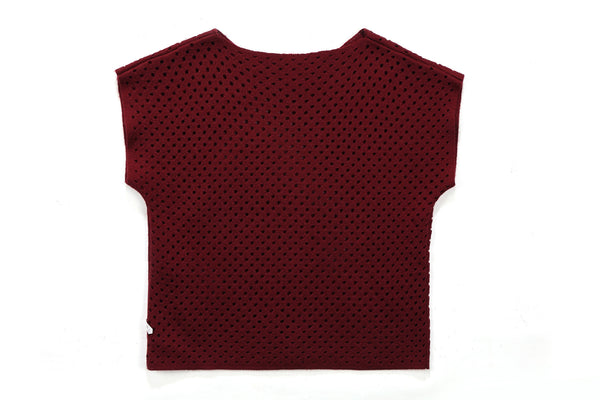 Becca Short Sleeve Top in Bordeaux