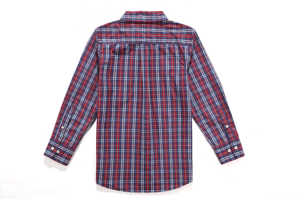 PerfectTex Shirt in Reverse Multi-Plaid