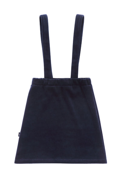 Girls' Velour Suspender Jumper in Navy