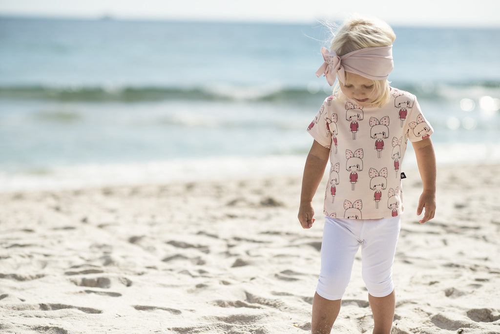 Baby Tee Shirt in Baby Doll Print