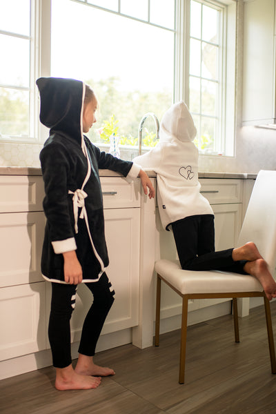 Girls' Morning Robe in Black
