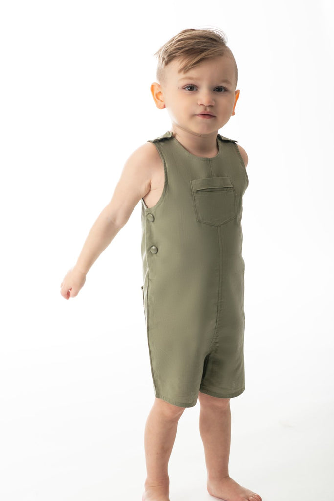 Baby Boys' Romper in Olive