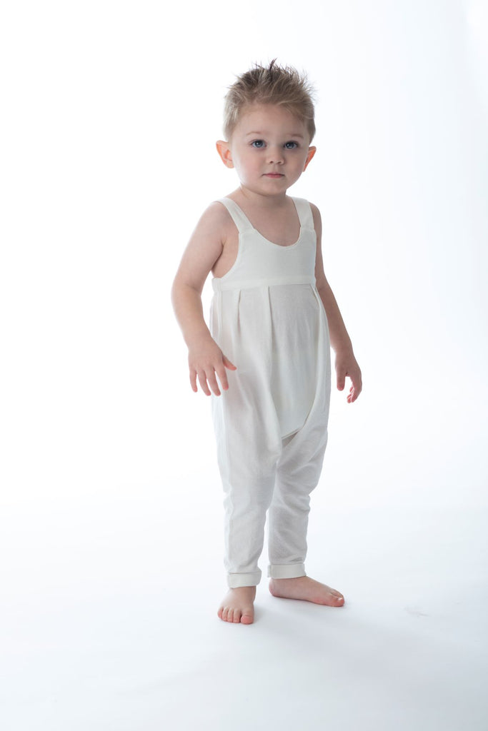 Baby  Romper in White
