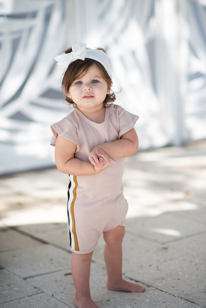 "Baby ""Ciao"" Romper in Blush"