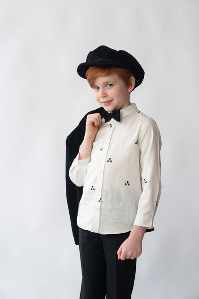 Boys Triangular Print Shirt