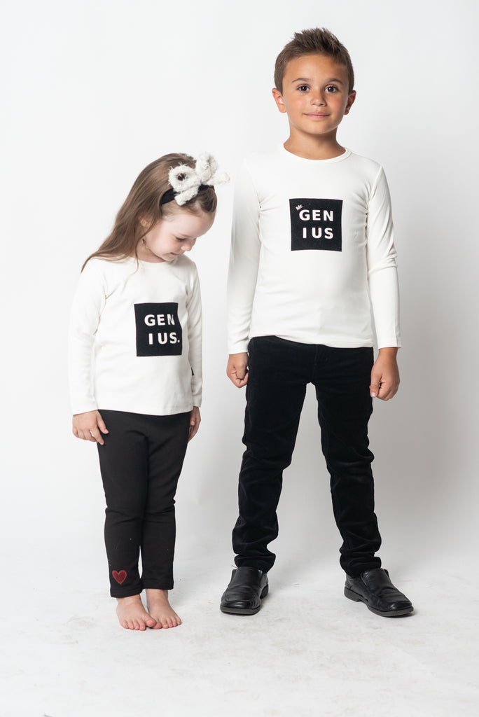 Girls Velour Genius Tshirt