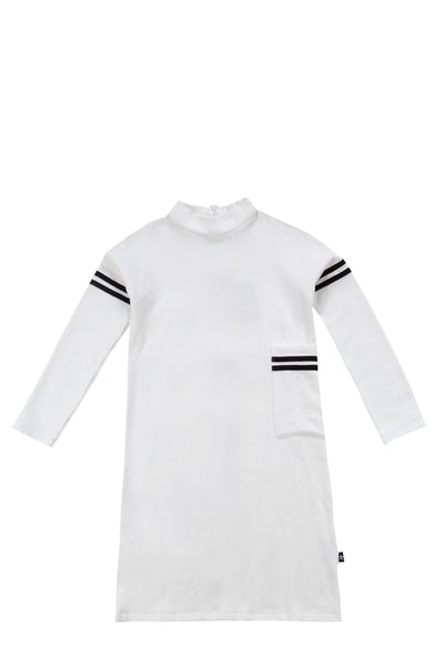 Girls Sweatshirt dress in Ivory