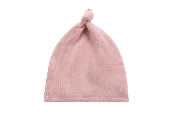Baby Ribbed Hat in Blush