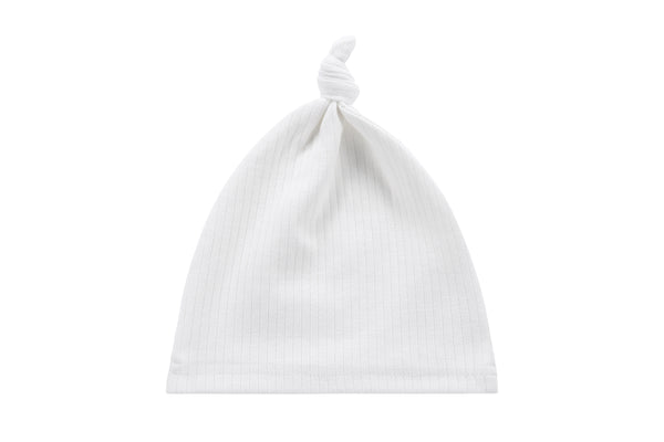 Baby Ribbed Hat in Ivory