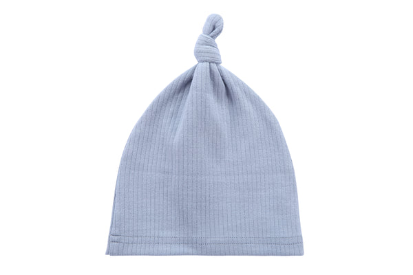 Baby Ribbed Hat in Light Blue