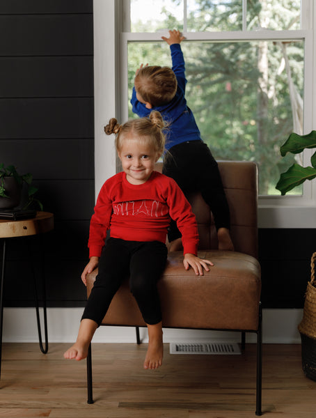 Baby Red Velour Sweatshirt