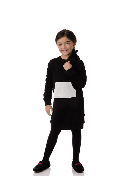 Girls' Ruffle Sleeve Dress