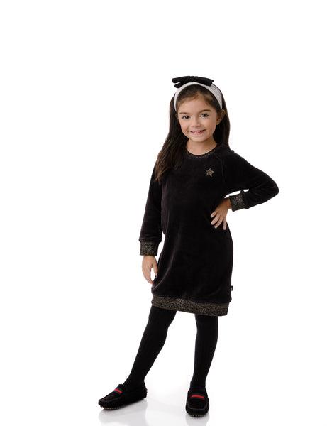 Girls' Velour Sweatshirt Dress