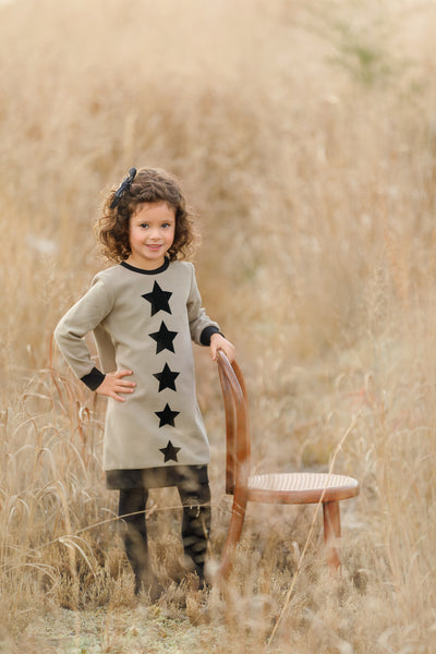Baby Velvet Star Ruffled Sweatshirt
