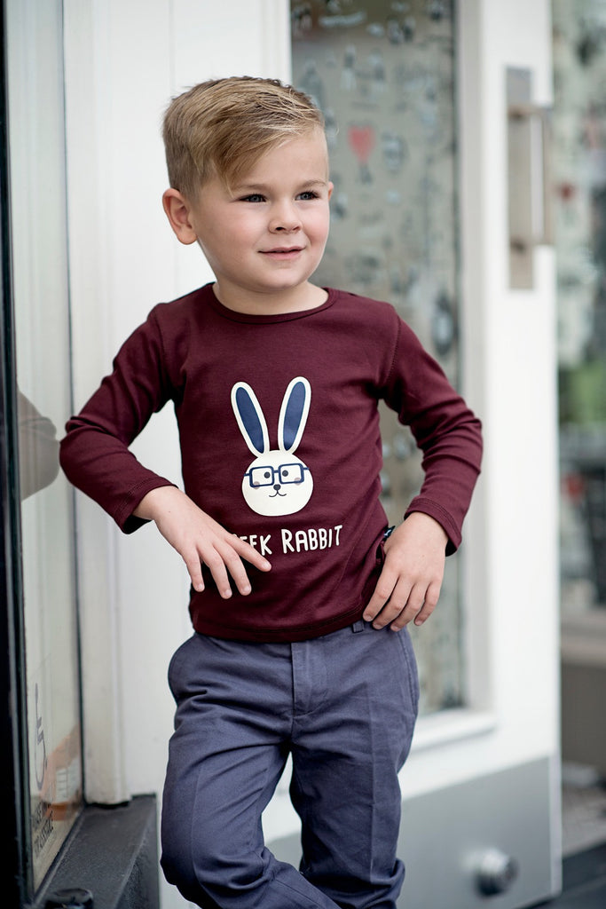 Boys Tee in Geek Rabbit Print