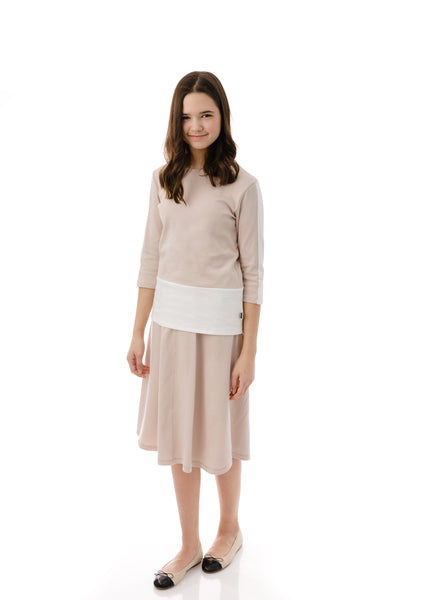 Girls' Basic Skirt in Blush