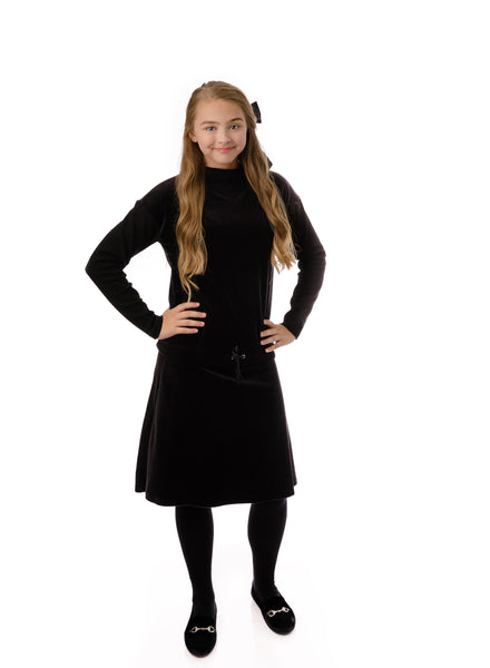 Teens' Velour Skirt in Black