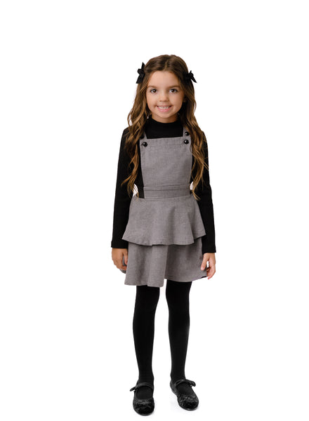 Girl's Pinafore Dress in Grey