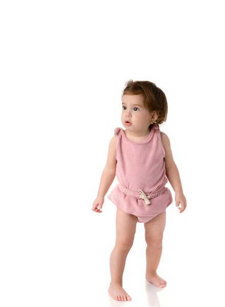 Baby Girls Terry Tank Set