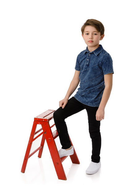 Boys Jersey Denim Polo