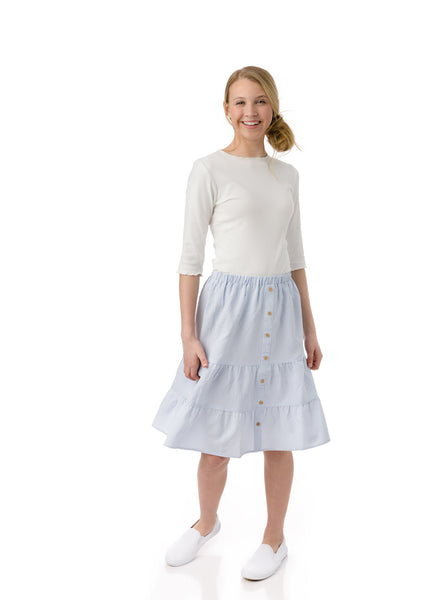 Teens Seersucker Skirt