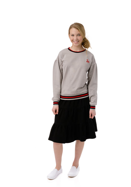 Teens Tiered Skirt in Black