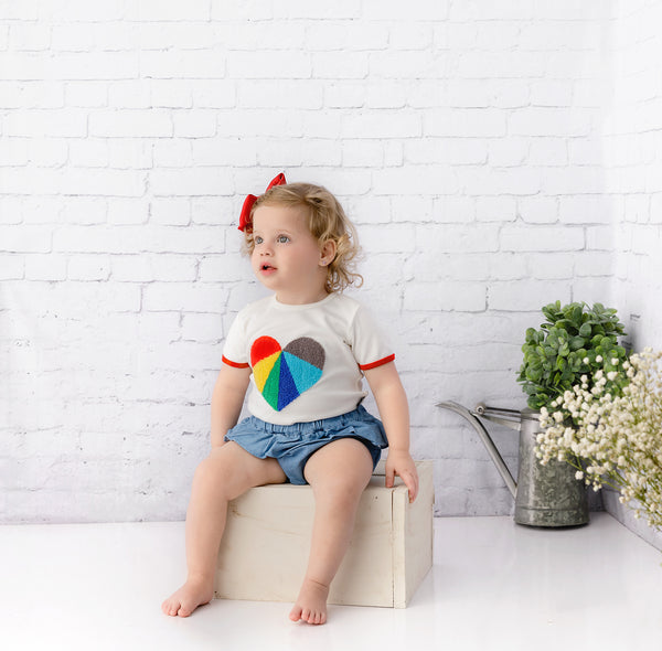 Baby Multi-Color Heart T-shirt