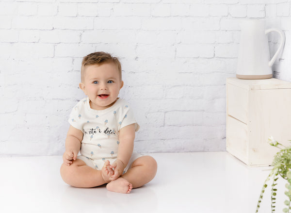 Baby Boy Ice Cream Print Romper