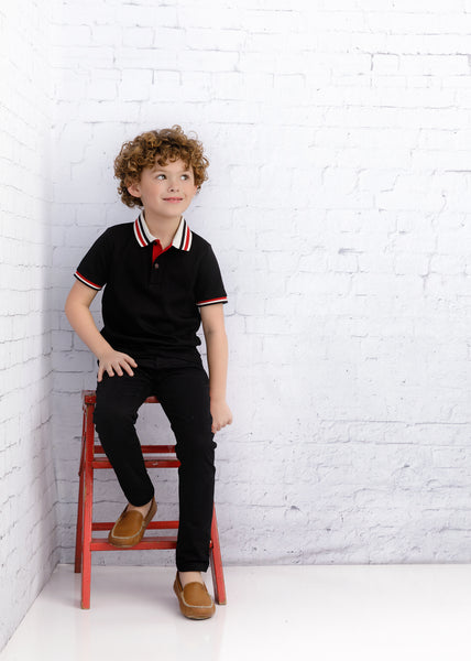 Boys Cove Polo in Black