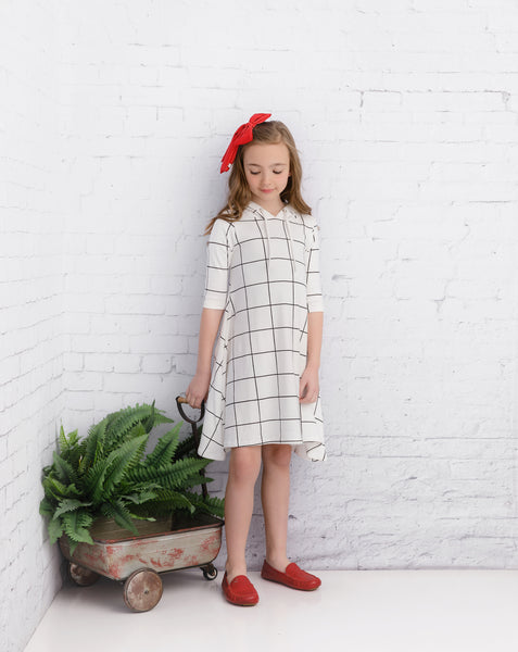 Girls' Grid Dress