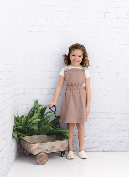 Girls' Mauve Pinafore Jumper