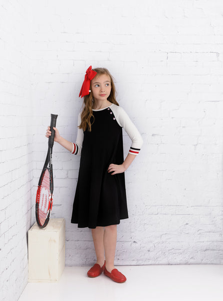 Girls Cove Dress in Black
