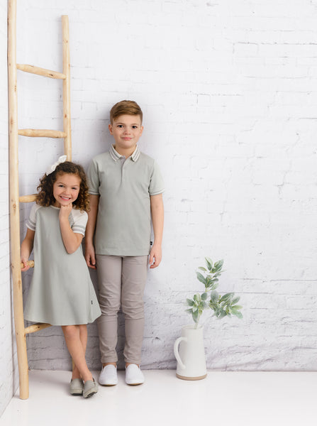 Boys Resort Polo in Sage