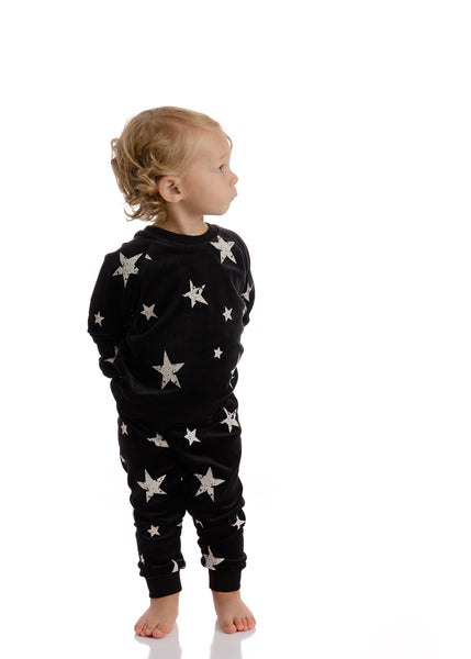 Baby Velour Star Sweatshirt Set