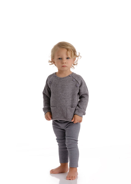 Baby Grey Chunky Sweater Set