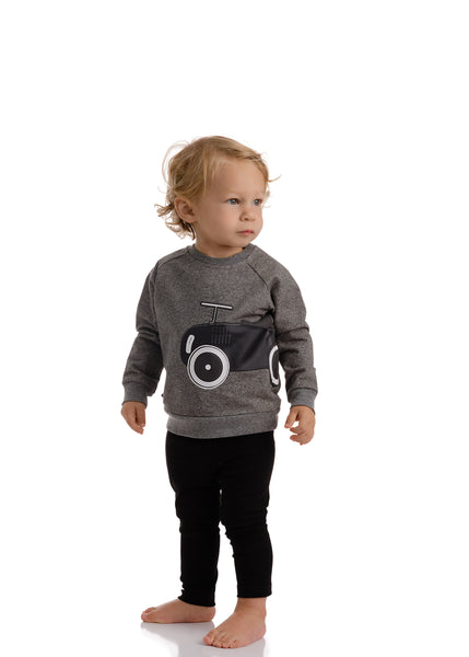 Baby Dark Heather Grey Car Sweatshirt