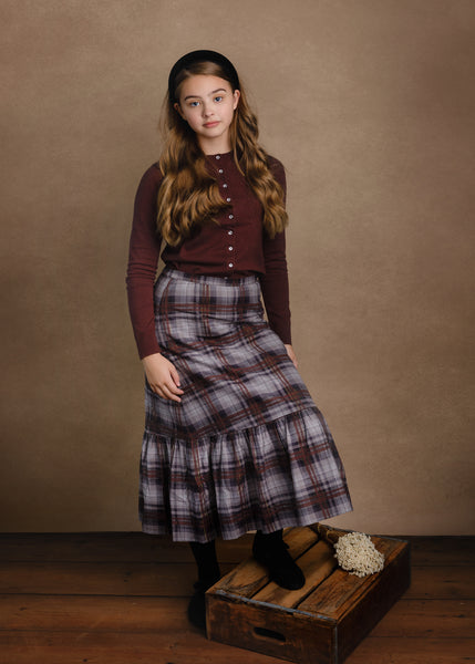 Teens Midi Plaid Skirt