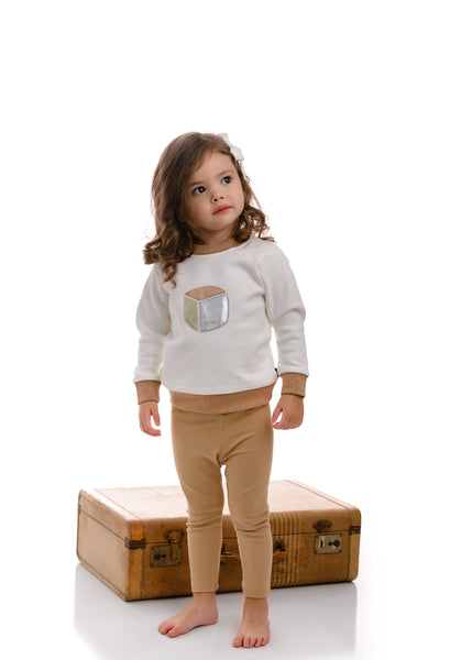 Baby Metallic Block Sweatshirt