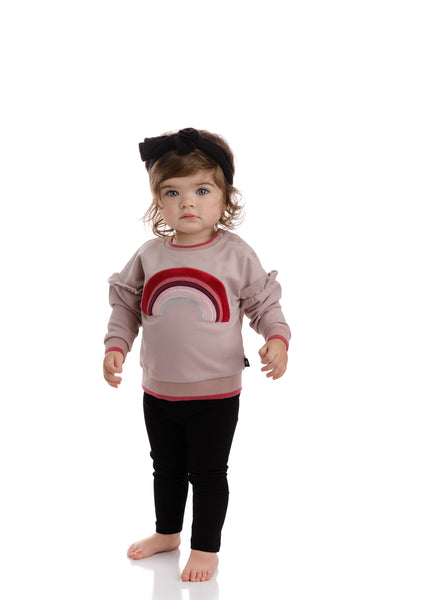 Girl Pink Rainbow Sweatshirt