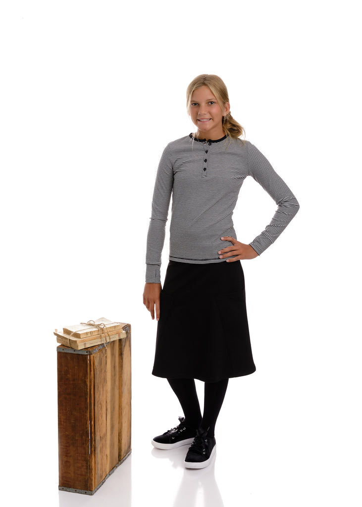 Basic Black Skirt with Pockets