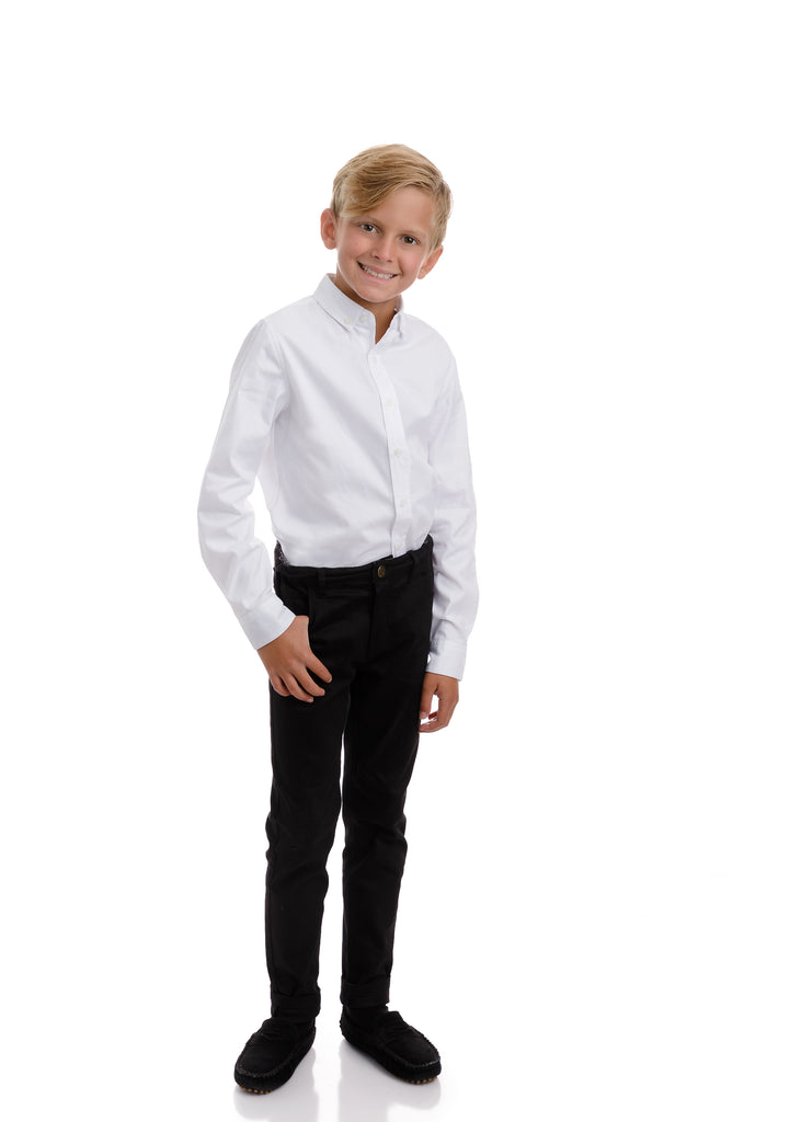 Boys White Twill Shirt
