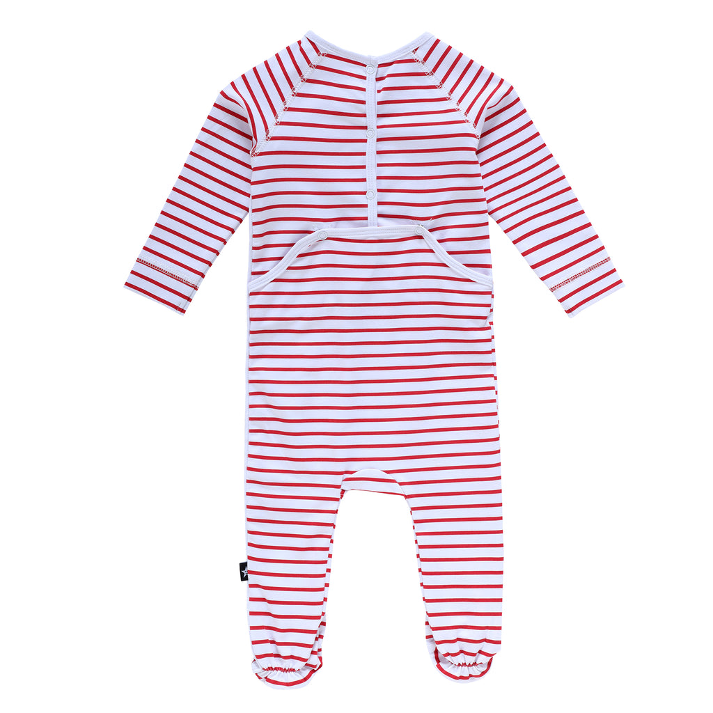 Baby Red Stripe Pajama Onesie